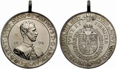 Archduke Eugen of Austria-Teschen silver medal, by A.Scharff, commemorating his ascension as Grand Master of the Teutonic Order. Archduke, Holy Roman Empire, The Grandmaster, Lorraine, Austria, Coins, Personalized Items, Silver, House