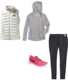 Back to School Capsule Wardrobe - Day 5 Vest + Yoga Tunic + Yoga Pants + Athletic Shoes #NAS #girlsoutfit