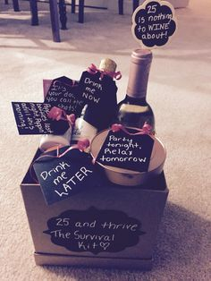 25th Birthday Gift Basket 30th Gifts For Best Friend Ideas