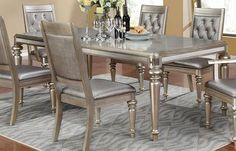 Dining Room Design WithCoaster Home Furnishings Danette Collection Dining Table – Danette dinning table has a metallic platinum finish with a high light glaze. This genuine coaster furniture product comes finished in metallic platinum. This piece measures 43. 5 L x W x 30 h. Glamorous...
