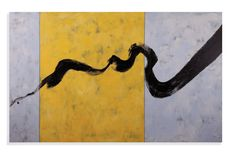Thoroughly Modern Ribbon in Ink Painting Print on Canvas
