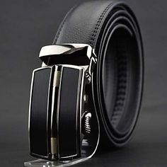 Mens Fashion Leather Belt With Stylish Buckle