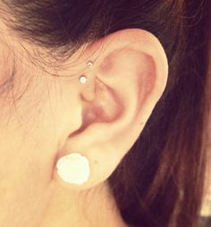I think I'm gonna do the double forward helix paired with a tragus... tonight.