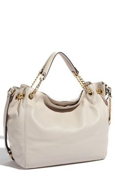 MICHAEL Michael Kors 'Jet Set - Large' Gathered Leather Shoulder Tote