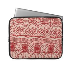 Cranberries and Cream Red and Cream Laptop sleeve #holiday #winter #red #cream #laptop #case #sleeve