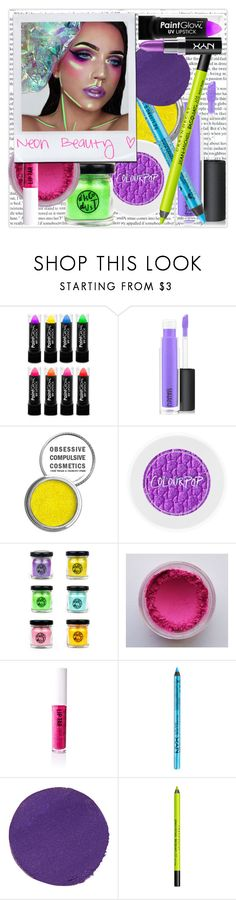 """Unicorn glow"" by ali-landy ❤ liked on Polyvore featuring beauty, MAC Cosmetics, Obsessive Compulsive Cosmetics, NYX, Illamasqua and Urban Decay"