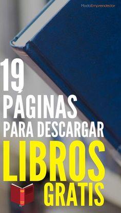 Si estás buscando páginas para descargar libros gratis, acá encontrarás una lista de 19 alternativas. Sin registro y sin trampas. ¿Qué esperas? Books To Read, My Books, Y Words, Study Motivation, Study Tips, Love Reading, Love Book, Book Recommendations, Book Lists