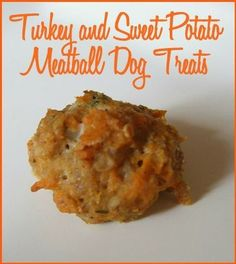 Homemade Turkey and Sweet Potato Meatball Dog Treats |
