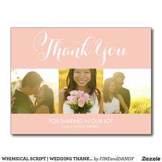 WHIMSICAL SCRIPT | WEDDING THANK YOU POSTCARD