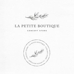 logo design in a minimalist, feminine style. Beautiful typography and font that adds a touch of sophisticated simplicity to the design. Logo for a botanical brand with pretty serif letters, a classic font and a modern look. Hand Drawn Logo, Hand Logo, Business Logo Design, Branding Design, Logo Branding, Logo Marin, Logo Circular, Store Concept, La Petite Boutique