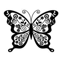 Tribal Butterfly Tattoo, Butterfly Mandala, Butterfly Drawing, Butterfly Stencil, Cricut Vinyl, Vinyl Decals, Wall Stickers, Wall Decals, Wall Art