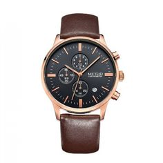 Megir Wrist Watch for Men with Genuine Leather Strap - Water Resistance Mens Sport Watches, Watches For Men, Waterproof Sports Watch, Watch Sale, Fashion Watches, Bracelet Watch, Quartz Watches, Free Shipping, Leather