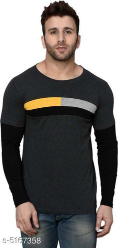 Checkout this latest Tshirts Product Name: *Fancy Designer Men Tshirt* Fabric: Cotton Sleeve Length: Long Sleeves Pattern: Printed Multipack: 1 Sizes: M (Chest Size: 38 in, Length Size: 26.5 in)  L (Chest Size: 40 in, Length Size: 27 in)  XL (Chest Size: 42 in, Length Size: 28 in)  Easy Returns Available In Case Of Any Issue   Catalog Rating: ★3.9 (2339)  Catalog Name: Fancy Designer Men Tshirts CatalogID_763644 C70-SC1205 Code: 732-5167358-594