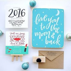 GIVEAWAY! So excited to team up with the sweet and stylish (and fellow Charlotte girl) @styleyoursenses during her #StyleYourSensesHolidayGiveaway! I'm giving away this Lettered Life bundle that includes a hand-lettered address stamp desk calendar and wooden sign! Head over to her pic to enter! Good luck friends!! by letteredlife