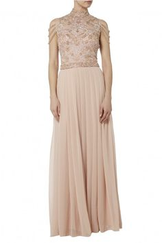 2ba36c4ddb02a Raishma - Embroidered maxi with fallen straps Bridesmaid Dresses, Prom  Dresses, Formal Dresses,