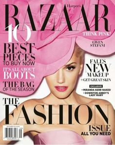 Gwen Stefani covers Harper's Bazaar September 2012 #fashion #magazine #covers #pink
