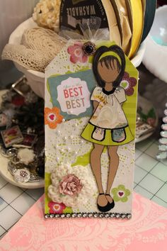 Just Paper and Bling: I Received my Prima Doll Tags From My Swap!!!