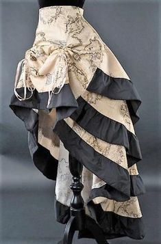 Gothic Victorian Steampunk Vintage Map Atlas World Print Bustle Ruffle Skirt in Clothes, Shoes & Accessories, Women's Clothing, Skirts | eBay! by brandi