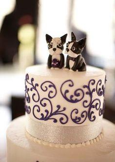 Boston Terriers Wedding Cake