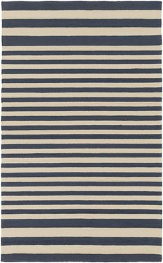 Totally suitable for indoors, but made to withstand the elements, this outdoor rug with virtually a flat weave pile, from Surya has a great look with contemporary colors and design.