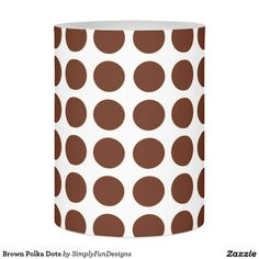 Brown Polka Dots Flameless Candle