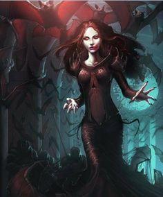 Répertoire Image Fantasy - Page 394 Scary Vampire, Vampire Love, Female Vampire, Vampire Queen, Vampire Girls, Vampire Art, Vampire Hunter, Dark Fantasy Art, Fantasy Rpg