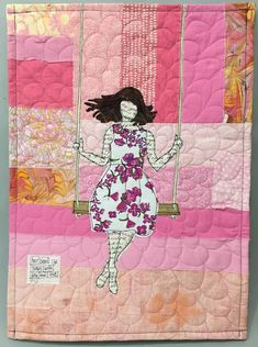 Soars with Joy and Love Scrap Fabric Projects, Quilting Projects, Quilting Designs, Sewing Projects, Fabric Cards, Fabric Postcards, Free Motion Embroidery, Free Motion Quilting, Mini Quilt Patterns