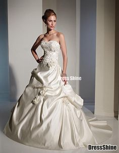 I like this - Ball Gown Sweetheart Satin and Flower(s) Wedding Dress. Do you think I should buy it?