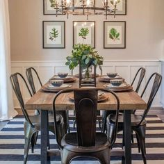 Fixer Upper on HGTV, your source for Fixer Upper videos, full episodes, photos and updates. Watch Fixer Upper on HGTV. Industrial Farmhouse Decor, Industrial Dining, Farmhouse Design, Industrial Style, Farmhouse Ideas, Industrial Metal, Farmhouse Style, Industrial Stairs, Industrial Windows
