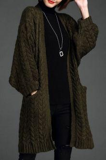 Leseme Black Tweed Longline Walker Cardigan | Cardigans at DEZZAL