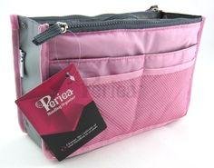 Periea Handbag Organizer, 12 Compartments - Chelsy (Pink, Small) Periea http://www.amazon.com/dp/B00ZFIJMNS/ref=cm_sw_r_pi_dp_EgRYwb0RGA5SE