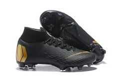 6c947dac3 Durable Nike Mercurial Superfly 360 Elite FG Black Metal Gold Men s Firm-Ground  Soccer Shoes