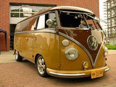 vw bus brown