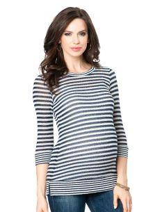 Splendid 3/4 Sleeve Crew Neck Maternity Shirt