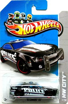 Hot Wheels 2013 Treasure Hunt 2010 Chevy Camaro SS Police Car HW City #17/250 #HotWheels #Chevrolet