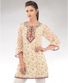Floral Ecru Kurt Tunic - Exclusively In