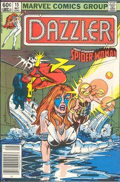 Dazzler No.15 (1982) - Cover by Bill Sienkiewicz Comic Books For Sale, Marvel Comic Books, Comic Book Characters, Comic Books Art, Comic Art, Book Art, Gi Joe, Dazzler Marvel, Illustrator