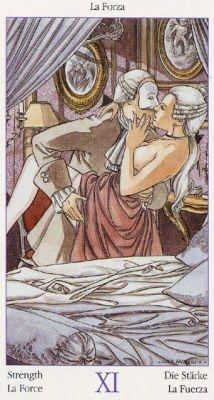 Tarots of Casanova. Аркан VIII (XI) Сила.