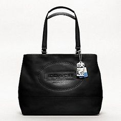 Coach Hamptons Weekend Leather Perforated Medium Tote