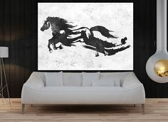 Huge Large Canvas prints add a unique touch to your home. Modern, stylish and unique design will be the most special piece of your decor. Especially for those who like abstract works, black and white acrylic painting can be prepared in desired sizes  large wall art for livingroom horse running original Painting on canvas, extra large abstract painting, Abstract art Black and White  16x24 (40x60cm) $75 20x30 (50x76cm) $110 30x40 (76x102cm) $180 36x48(92x122cm) $240 40x53.5(102x136cm) $310…