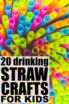 If you're looking for new and exciting activities for kids to beat the boredom blues on bad weather days, this collection of drinking straw crafts for kids Straw Activities, Craft Activities For Kids, Preschool Crafts, Motor Activities, Summer Activities, Family Activities, Indoor Activities, Summer Crafts For Kids, Crafts For Kids To Make