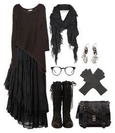 Wood witch wardrobe #1 by n-nyx on Polyvore featuring polyvore fashion style Helmut Lang Raxevsky Proenza Schouler Unearthen AllSaints Marc Jacobs Spitfire