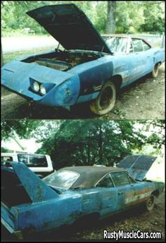 Superbird in Petty Blue with 440 4bbl - Rusty muscle car photos and project muscle cars for sale at RustyMuscleCars.com
