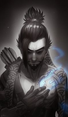 Overwatch: Redemption by Denimecho Overwatch Hanzo, Overwatch Fan Art, Widowmaker, Overwatch Drawings, Character Inspiration, Character Art, Character Design, Ninja Assassin, Character