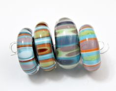 Handmade Artisan Lampwork Glass Bead Set by blancheandguy on Etsy