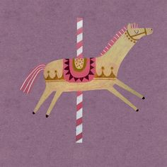 #woodenhorse #merrygoround #illustration #horse