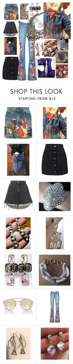 """Denim & Diamonds"" by mysoulrepair ❤ liked on Polyvore featuring Gucci, Jordache, Levi's, LE3NO, Alexander Wang, Ferra, Barton Perreira, Alice + Olivia and vintage"
