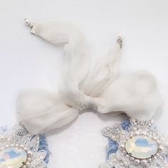 "Lace, Swarovski, silk necklace ""Tenderness""  by Michael Polkanov  Photo by Moriya Neva  https://www.etsy.com/listing/173454807/necklace-tenderness-lace-swarovski-silk"
