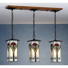 View the Meyda Tiffany 81262 Stained Glass / Tiffany Island / Billiard Fixture from the Parker Poppy Collection at LightingDirect.com.