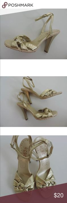 "BCBG heels SKU: SD11347  Width: Medium (B, M) Material: Leather 4.75"" heel. Great preowned condition! Some minor marks and signs of wear. BCBG Shoes Heels"